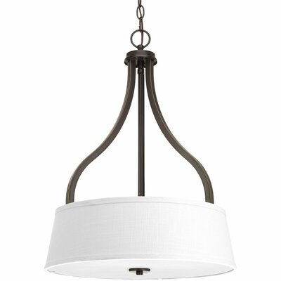 Arden 3-Light Drum Pendant Finish: Antique Bronze