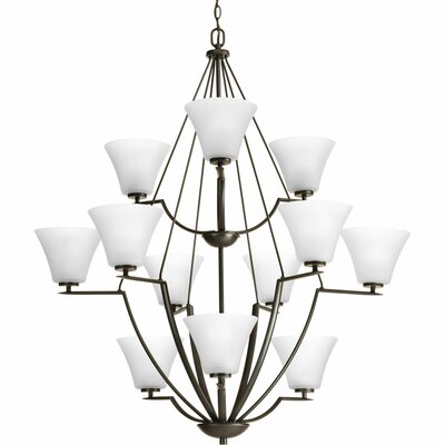 Bravo 12-Light Shaded Chandelier