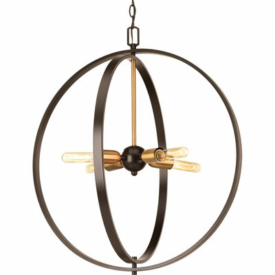 Jaunita 4-Light Foyer Pendant Size: 23.25 H x 20 W