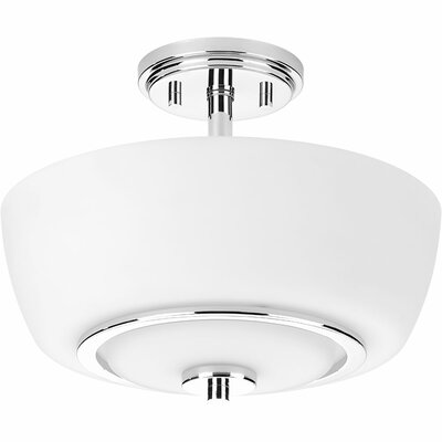 Angelinea 2-Light Semi-Flush Mount Finish: Polished Chrome