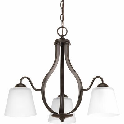 Gallo 3-Light Shaded Chandelier Finish: Antique Bronze