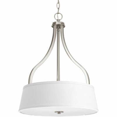 Arden 3-Light Drum Pendant Finish: Brushed Nickel