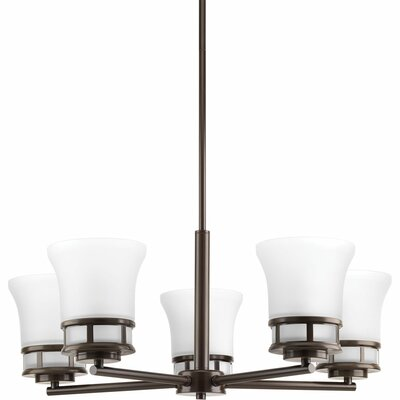 Cascadia 5-Light Shaded Chandelier Finish: Antique Bronze