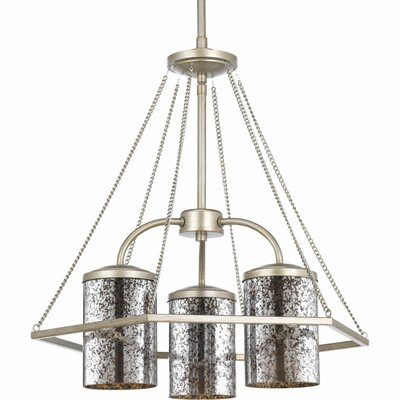 Garvin 3-Light Shaded Chandelier Finish: Silver Ridge