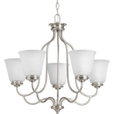 Keats 5-Light Shaded Chandelier Finish: Brushed Nickel