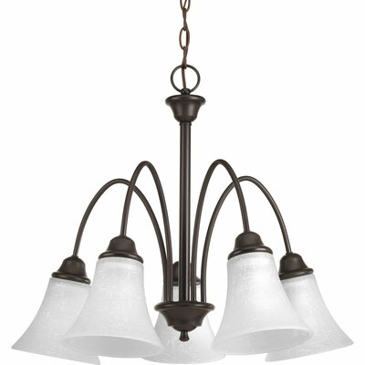 Adama 5-Light Shaded Chandelier Finish: Antique Bronze