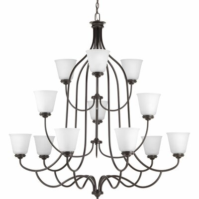 Keats 12-Light Shaded Chandelier Finish: Antique Bronze