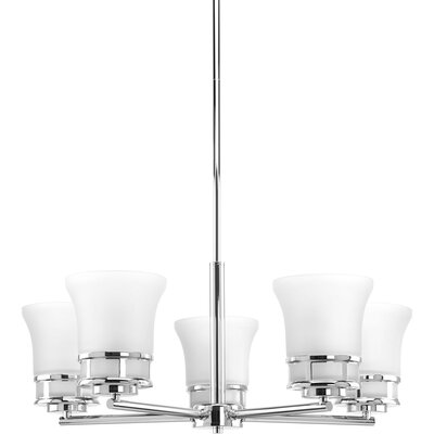 Tashina 5-Light Shaded Chandelier Finish: Polished Chrome