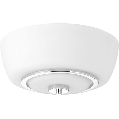 Angelinea 2-Light Flush Mount Finish: Polished Chrome
