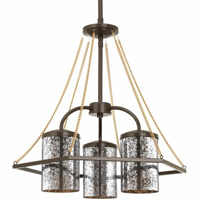 Garvin 3-Light Shaded Chandelier Finish: Antique Bronze
