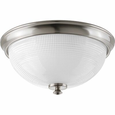 Lucky 3-Light Flush Mount Finish: Brushed Nickel