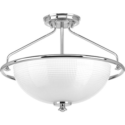 Lucky 3-Light Semi-Flush Mount Finish: Polished Chrome