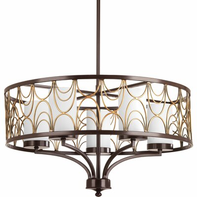 Cirrine 5-Light Shaded Chandelier