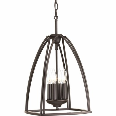 Tally 4-Light Foyer Pendant Finish: Antique Bronze, Size: 26.5 H x 16.75 W