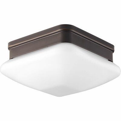Burbury 1-Light Flush Mount Finish: Antique Bronze