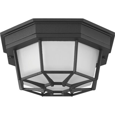 Milford 1-Light Flush Mount Finish: Black