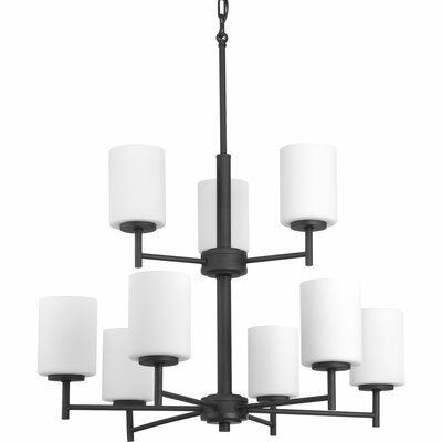 Clapton 9-Light Shaded Chandelier Finish: Black