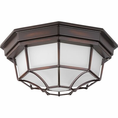 Kunal LED 1-Light Flush Mount Finish: Antique Bronze