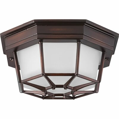 Kunal 1-Light Flush Mount Finish: Antique Bronze