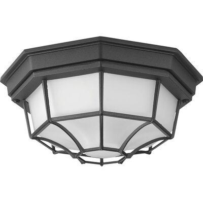 Kunal LED 1-Light Flush Mount Finish: Black