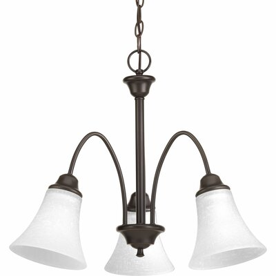 Adama 3-Light Shaded Chandelier Finish: Antique Bronze