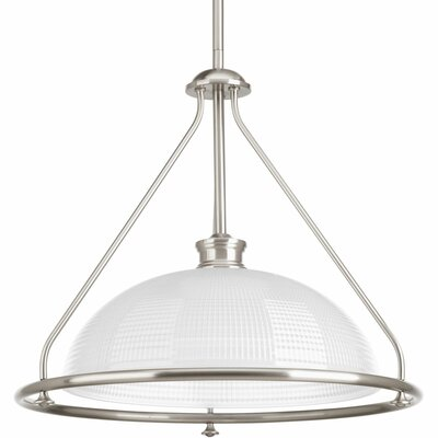 Feissal 1-Light Bowl Pendant Finish: Brushed Nickel