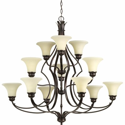 Applause 12-Light Shaded Chandelier Finish: Antique Bronze