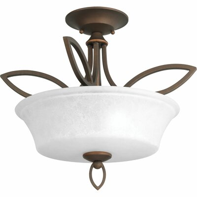 Monogram 2-Light Semi-Flush Mount
