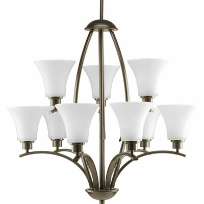 Jilliann 9-Light Shaded Steel Chandelier