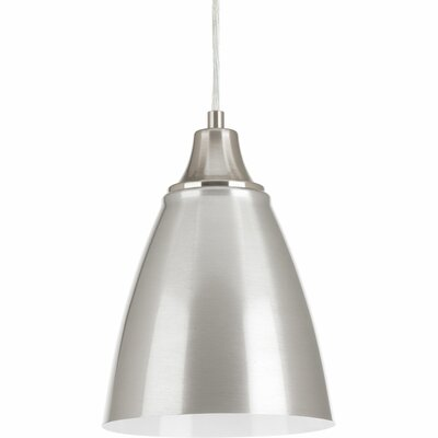 Pure 1-Light Mini Pendant Finish: Brushed Nickel/Polished White