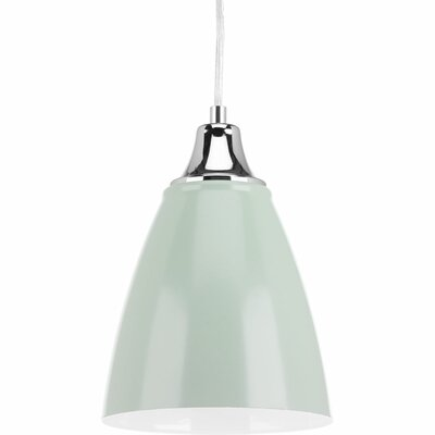 Darryl 1-Light Mini Pendant Finish: Pistachio/Polished White