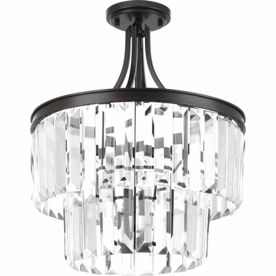 Eggar 3-Light Crystal Chandelier Finish: Antique Bronze
