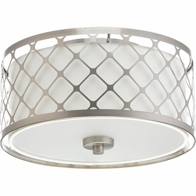 Komal 1-Light Metal Flush Mount Size: 5.88 H x 11 W x 11 D