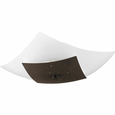 Hoglund 1-Light Flush Mount Finish: Architectural Bronze