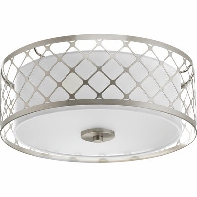 Mingle 1-Light Flush Mount Size: 5.75 H x 14 W x 14 D