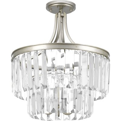 Eggar 3-Light Crystal Chandelier Finish: Silver Ridge