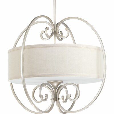 Farragut 3-Light Drum Pendant Base Finish: Silver Ridge