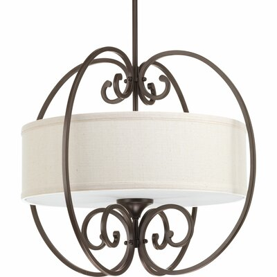 Farragut 3-Light Drum Pendant Base Finish: Antique Bronze