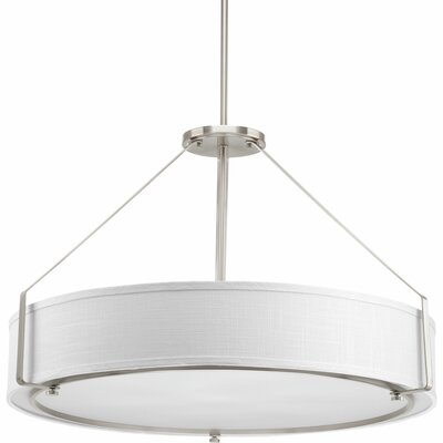 Ratio 6-Light Drum Pendant Base Finish: Brushed Nickel