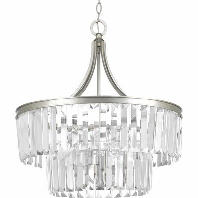 Glimmer 5-Light Crystal Chandelier Base Finish: Silver Ridge