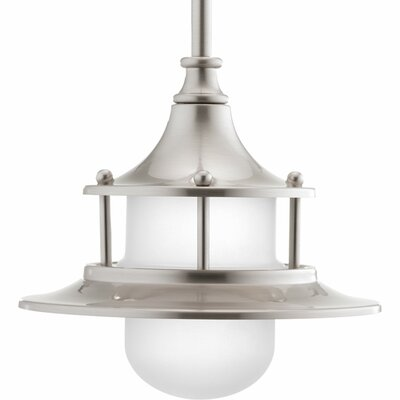 Parlay 1-Light Mini Pendant Base Finish: Brushed Nickel