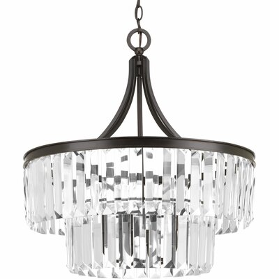 Eggar 5-Light Crystal Chandelier Base Finish: Antique Bronze