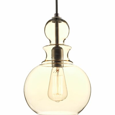 Byrns 1-Light Globe Pendant Finish: Antique Bronze