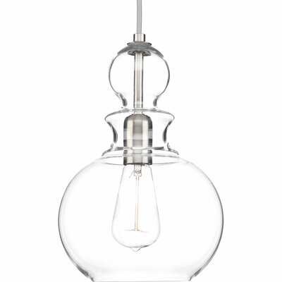 Byrns 1-Light Globe Pendant Finish: Brushed Nickel