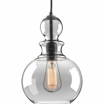 Byrns 1-Light Globe Pendant Finish: Graphite