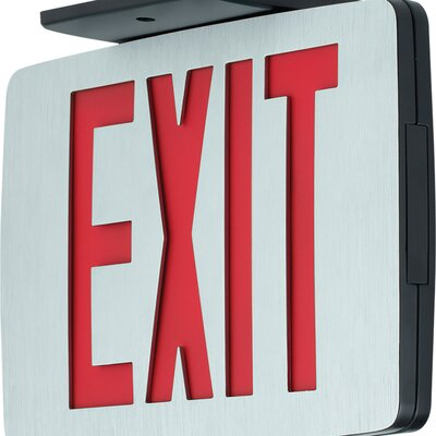 Exit Sign Finish: Red