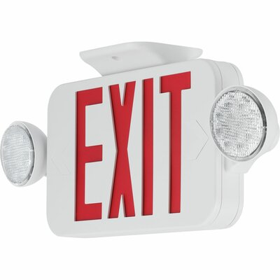 Exit Sign Combo Finish: Red