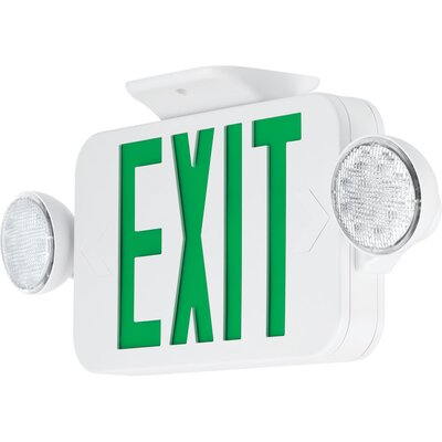 Exit Sign Combo Finish: Green