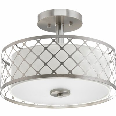 Komal 1-Light Semi-Flush Mount
