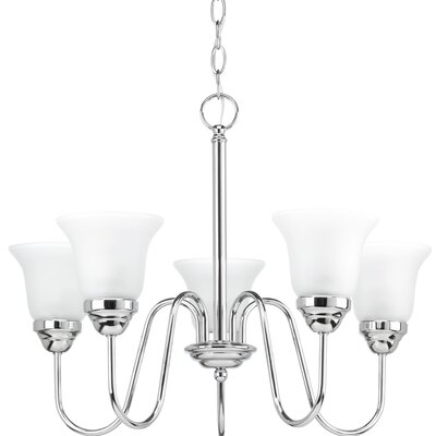 Bogdan Contemporary 5-Light Shaded Chandelier Finish: Polished Chrome